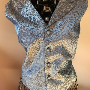 Beautiful blue satin vest